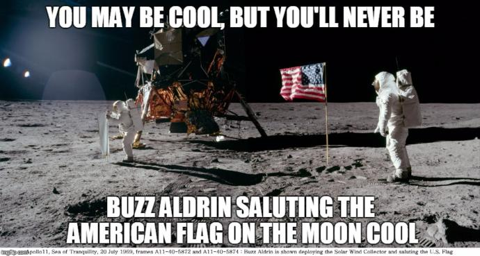 Liberal Hollywood mobie omits the planting of the momentous moment of the Stars and Stripes being planred during the first moon landing. Thoughts?