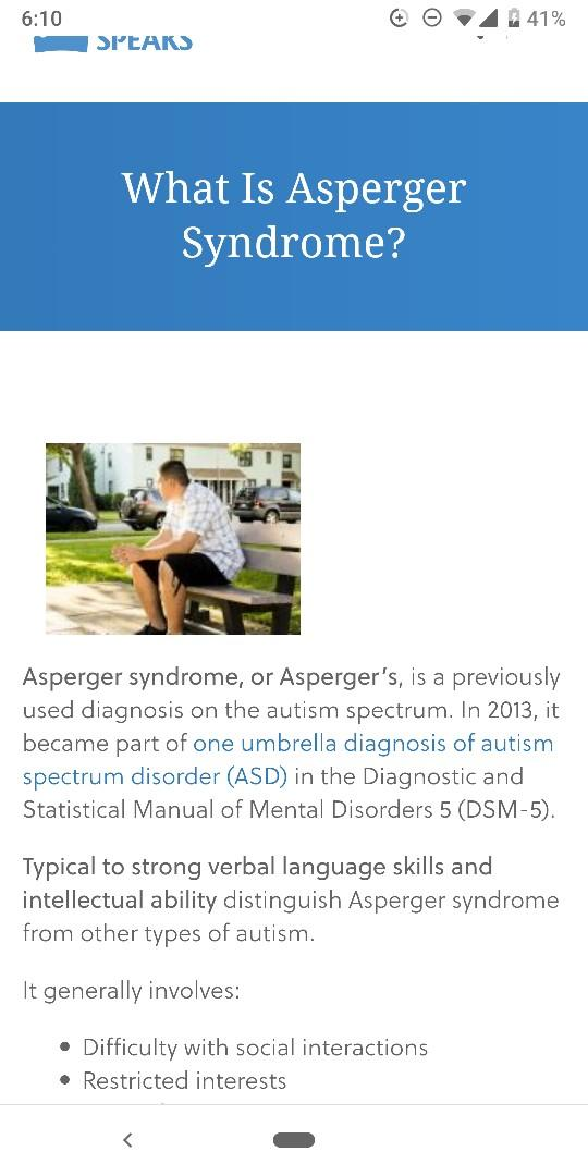 Dating aspergers adults