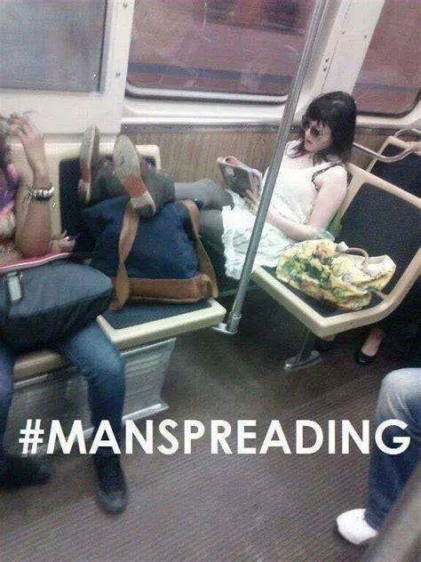 Manspreading should it be illegal, what about shebagging?