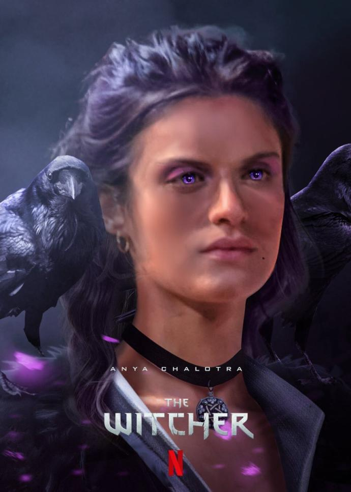 A fan art of Anya Chalotra who is going to play Yennefer