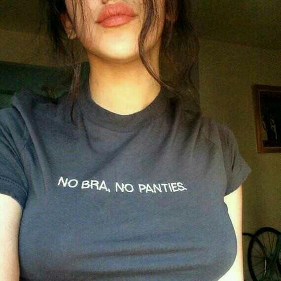 Do guys like the no bra look?