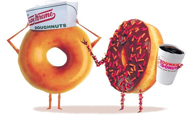 Dunkin Donuts VS. Krispy Kreme? Who's team are you on?