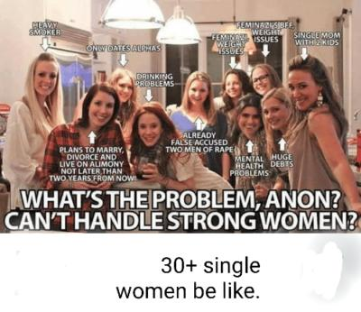 Would you agree that single women over 30 tend mostly to be