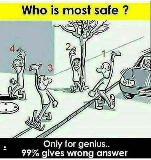 Hey gags, fun time. Tell me who is the safest in this pic?