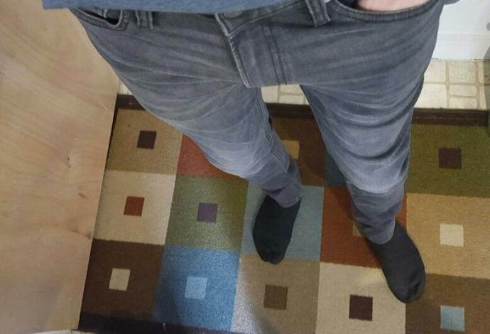 What do you think of these jeans on me?