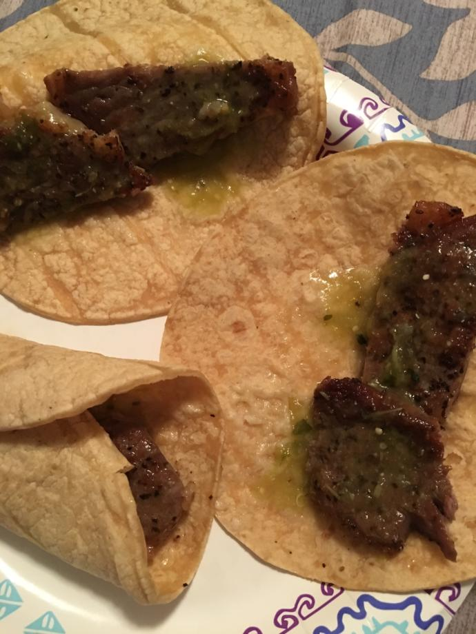 Is it a waste to make tacos out of 15$ a pound steaks?