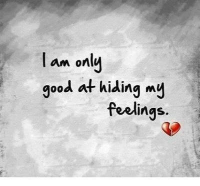 why do some guys hide their feelings