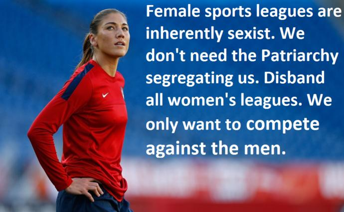 Should men be allowed to compete in women's sports and vice-versa?