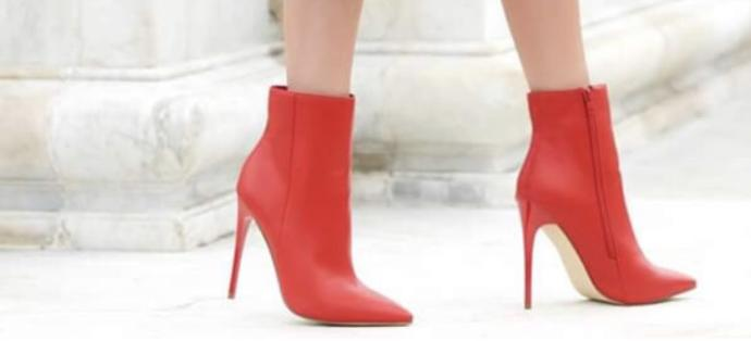 Should I wear red boots for the dancing night or the red heels?