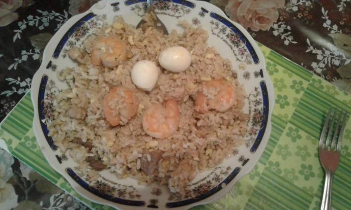 What do you think of my fried rice and Wanton soup?