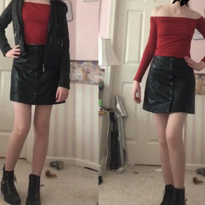 This outfit: With or without fishnets?