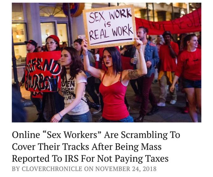 Sex worker strike