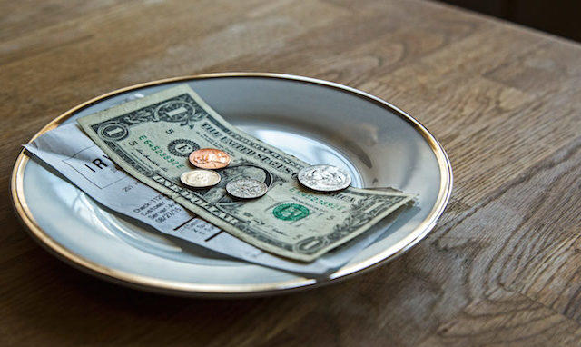 Do you tip your waiter even if you've gotten bad service?