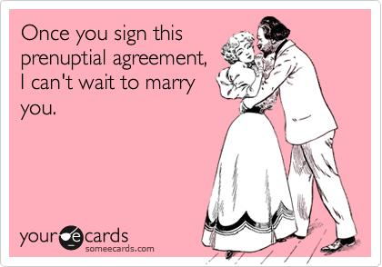 If your partner was richer, would you be offended if they wanted you to sign a prenup/premarital agreement?