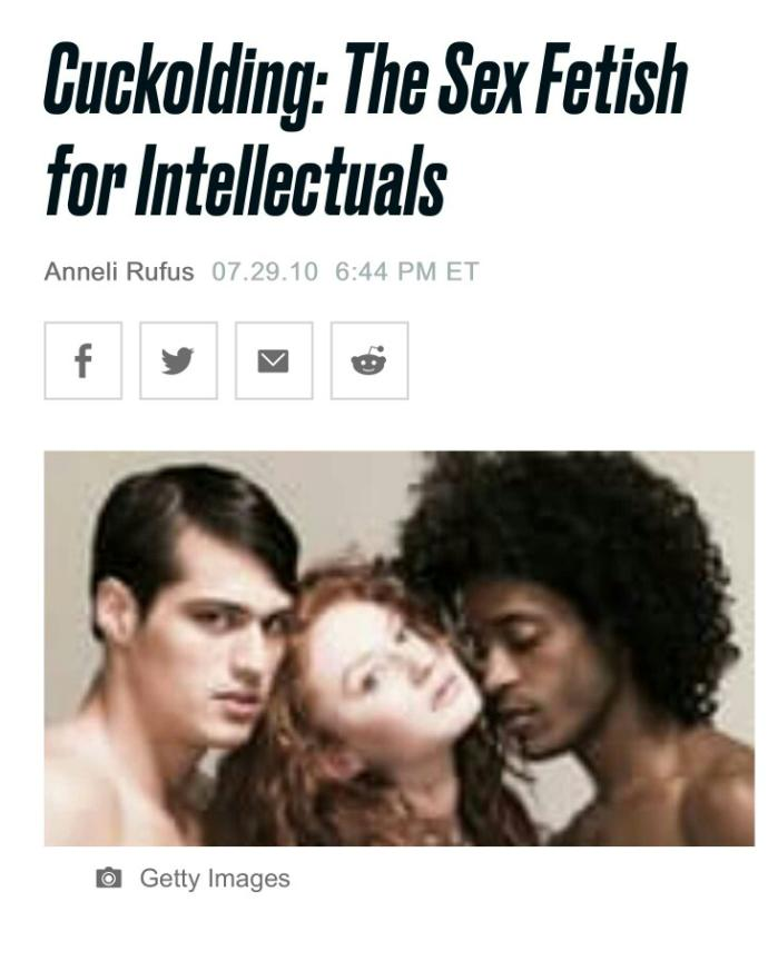 Why don't people take cuckolding seriously as a fetish?