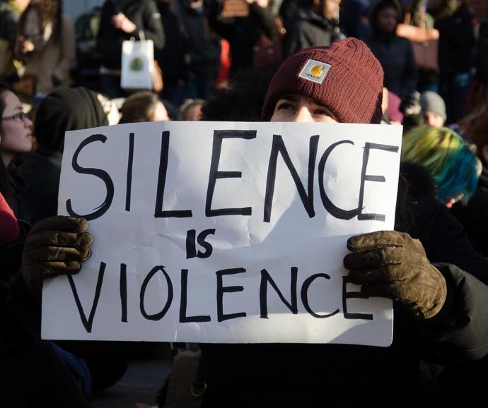 Silence is violence so shouldn't we ban silence?