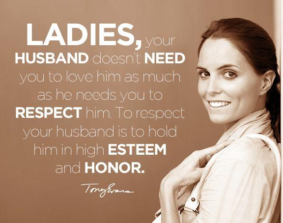 Do you believe a hard working husband and father should be honoured when he comes home from work by his wife and kids?