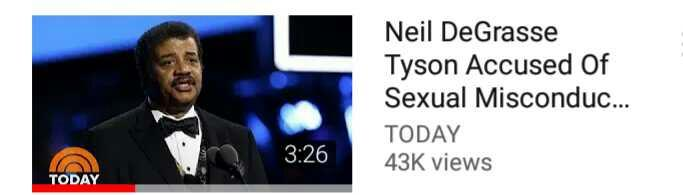 Neil degrasse tyson is accused of Sexual misconduct?