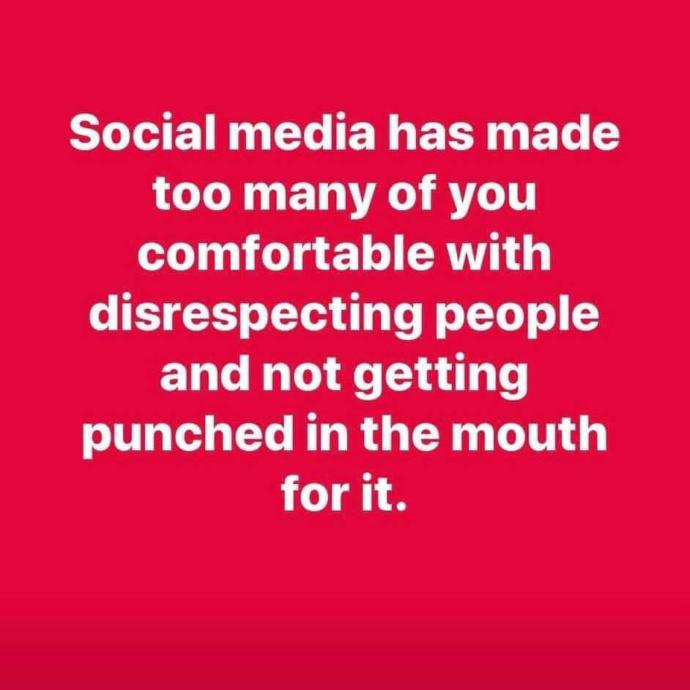 Has social media made people more comfortable with being disrespectful without any consequences?