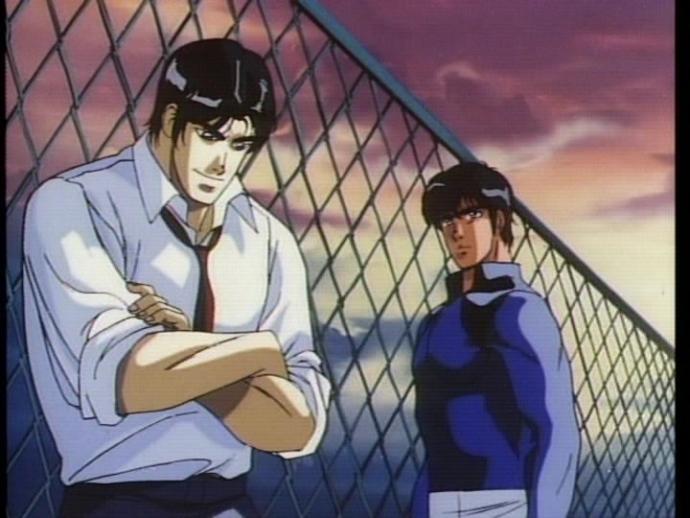 Riki (left) from Battle Royale High School