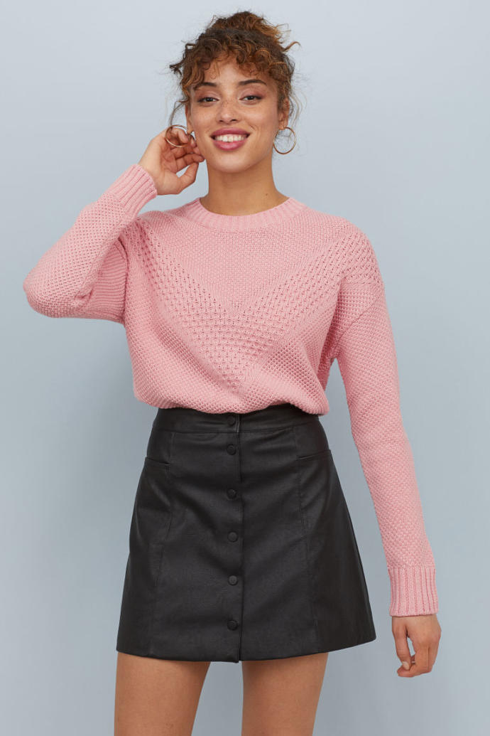 The pink or the black sweater?