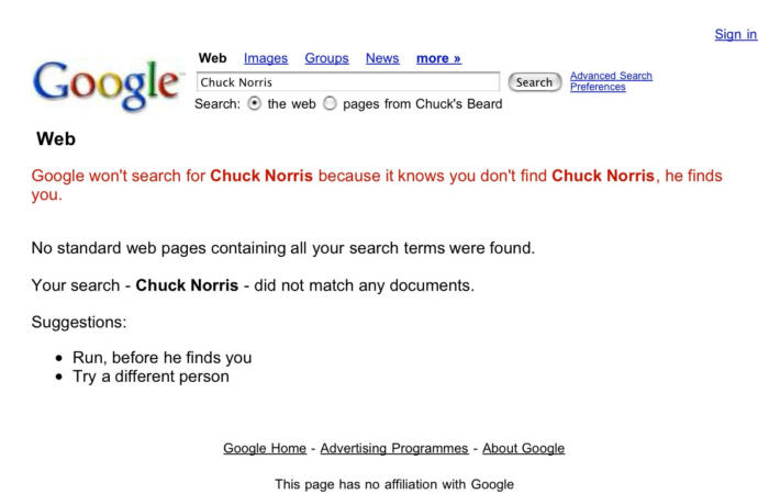 How do you feel about Chuck Norris jokes?