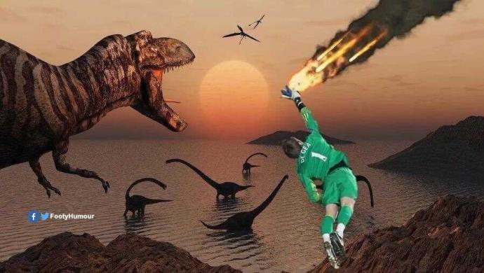 He did? De Gea could have saved the dinosaurs from extinction?