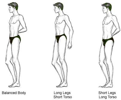 What are your thoughts on a man who's upper body is longer than his lower body?