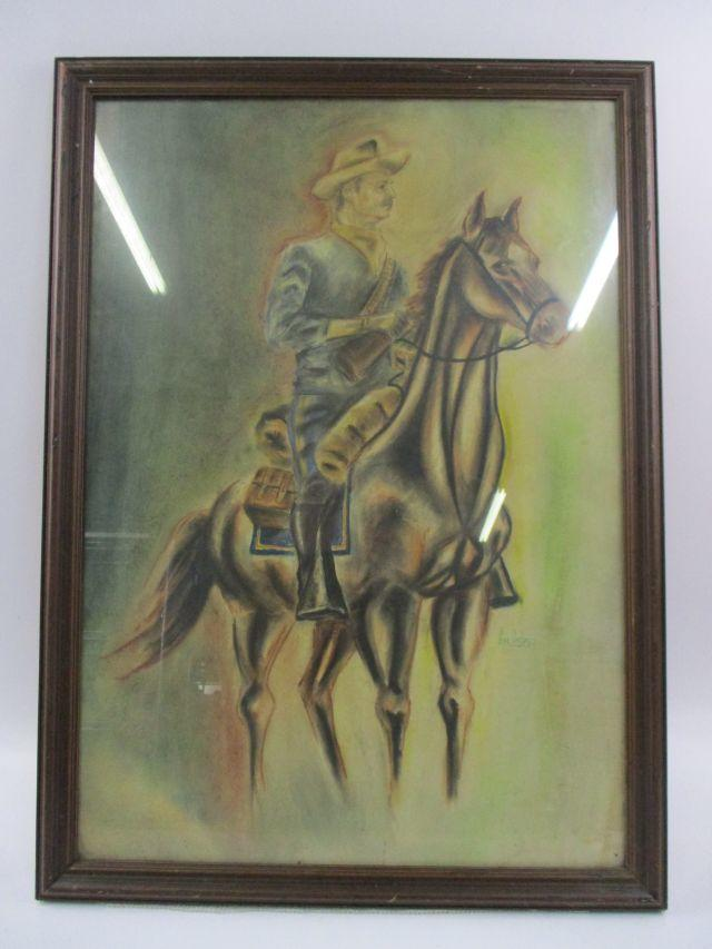 I am bidding on this very old print. Who is he and who did he ride with?