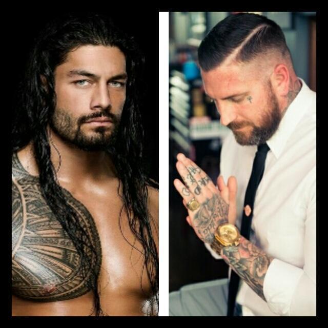 Sexy wrestler, tattoo artist