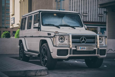 a mercedes gwagon?or a ford f150 raptor gets more attention in the public?