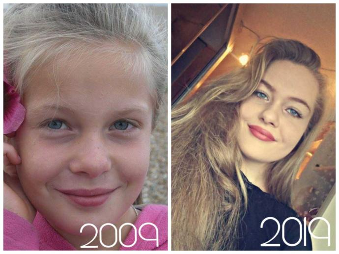 What did you look like/what were you like 10 years ago?