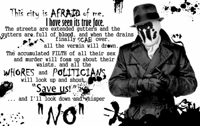 Was Rorschach the original Red Pill MGTOW?