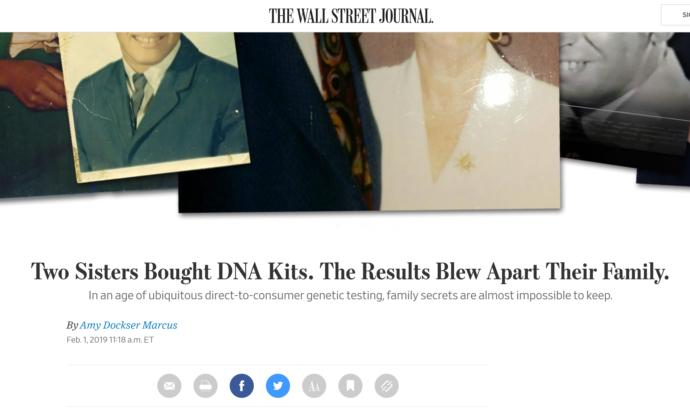 How do you feel about commercially available DNA testing kits exposing siblings not being from the same dad?