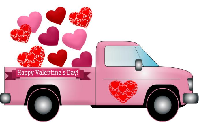 Truck full of Valentine's Day Gifts