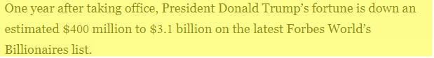 If President Trump Is Using His Office To Make Money, Why Has It Cost Him A Billion Dollars Since He Became President?