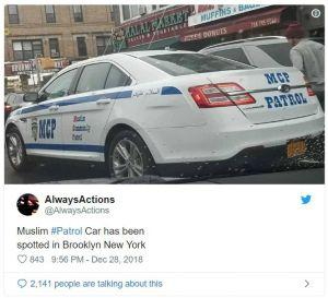 Sharia Law Patrols on the streets of New York. What are your thoughts?