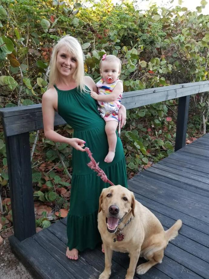 Here's me with my niece and dog. I think I'm going to wear this dress for st. pattys celebration. What will you all be wearing?