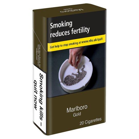 Pack of cigarettes in the UK.