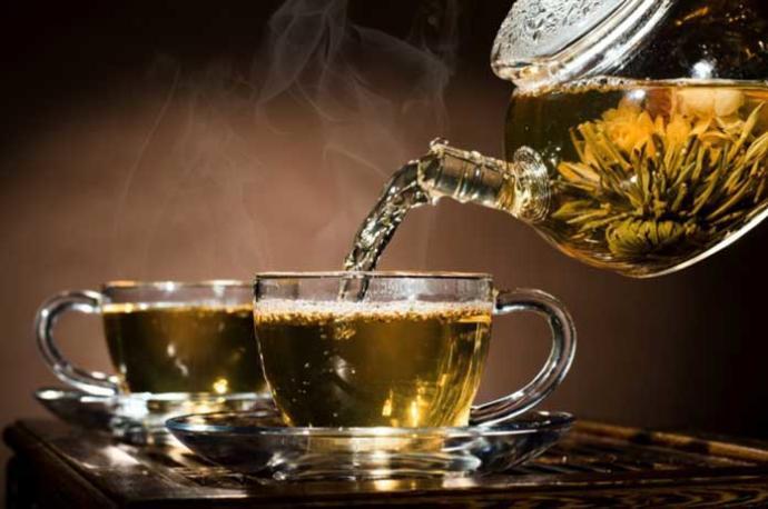 Fancy hot tea