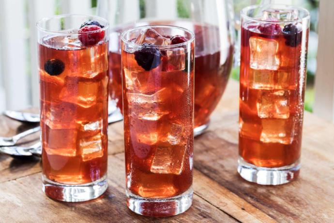 Some fancy looking iced tea