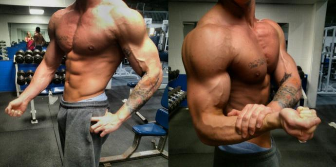 do you like proportionally big arms or delts on a guy?