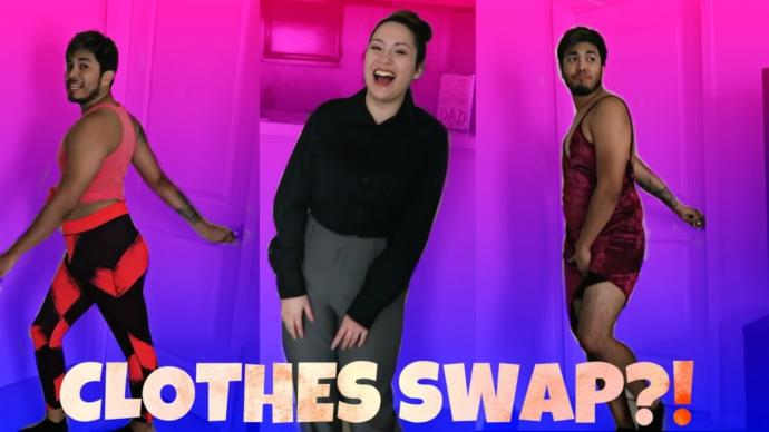 How would you react if your SO wanted to swap cloths for a week as part of a challenge?