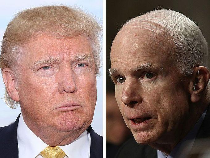 Why is thin-skin Trump still making hateful statements toward John McCain yesterday and today?