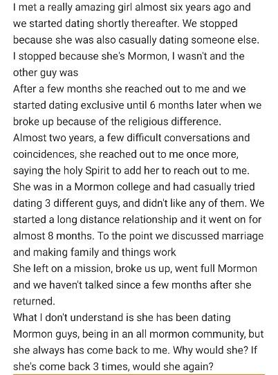 What made her come back?