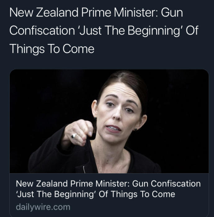 Why are New Zealand people complying with the wishes of the mass-shooter?