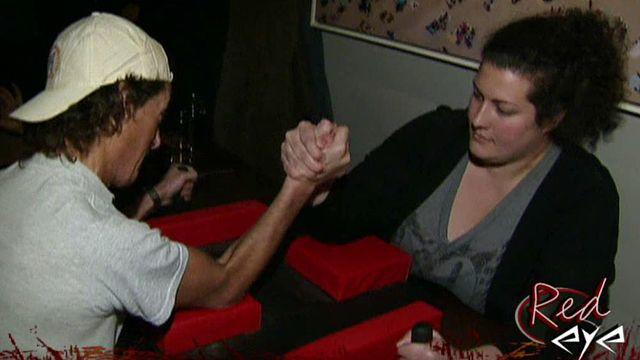Girls, would you ever arm wrestle a guy and guys how would you feel if a girl bested you in arm wrestling?