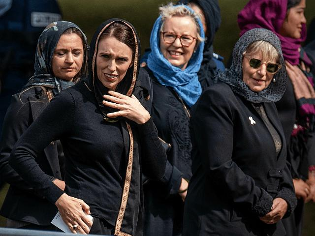 Why are New Zealand feminists wearing the symbol of female oppression, why aren't the supporting women's rights?