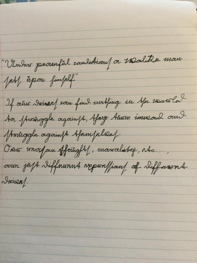 What do you think of my handwriting?