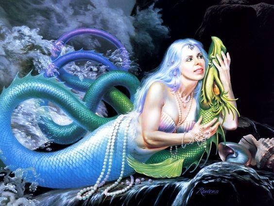 Which Of These Mermaid And Sea Serpent Themed Fantasy Art
